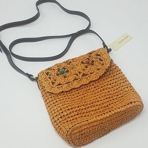 {NWT} Amanda Smith   Straw Woven Cross Body Bag